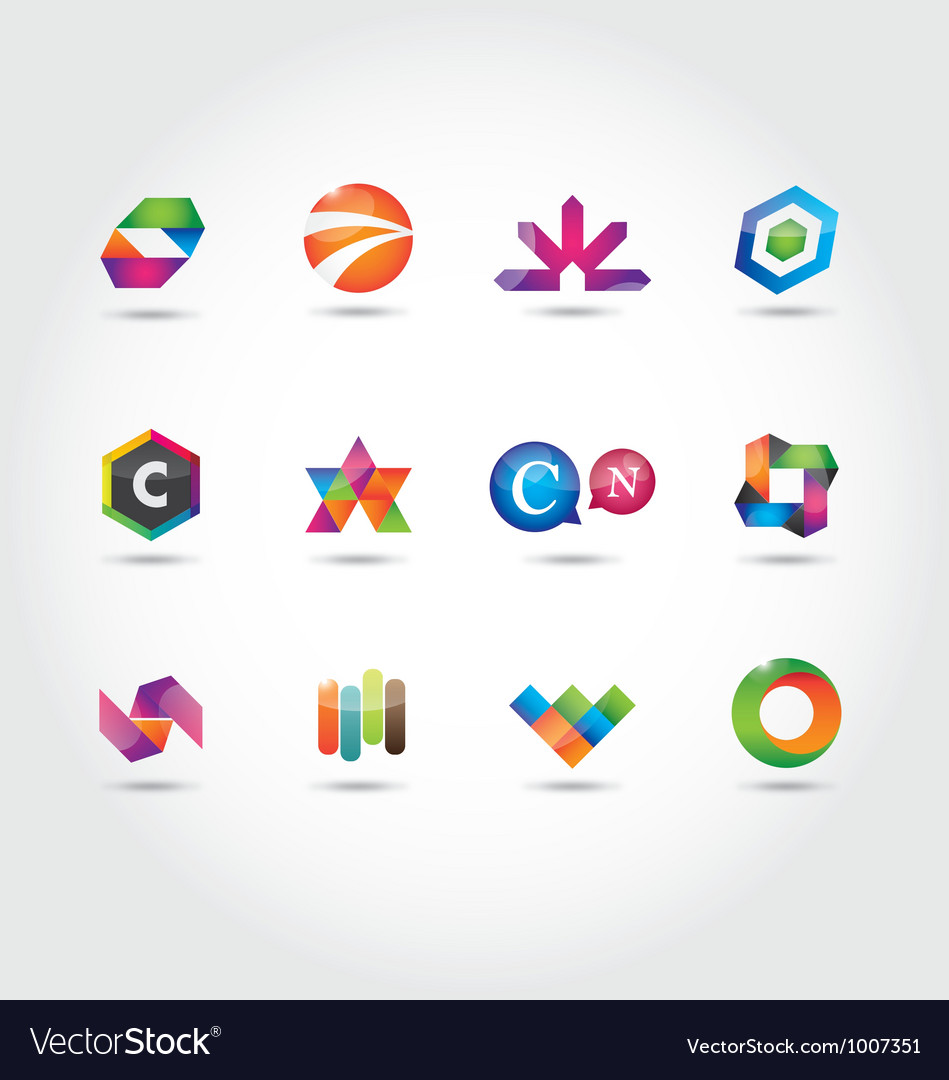 Logo set vector | Price: 1 Credit (USD $1)