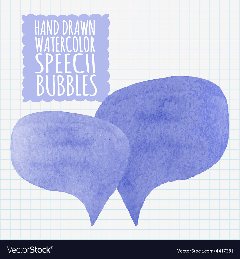 Set of watercolor speech bubbles decoration and vector | Price: 1 Credit (USD $1)