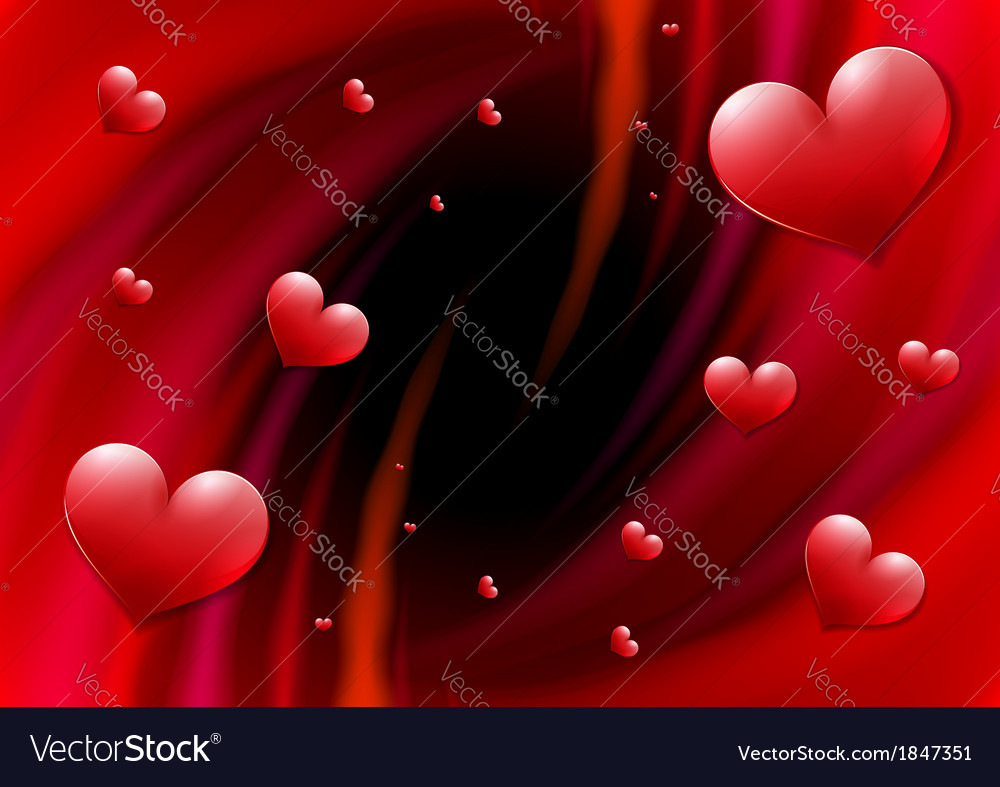 Valentines day card with abstract vortex and vector   Price: 1 Credit (USD $1)