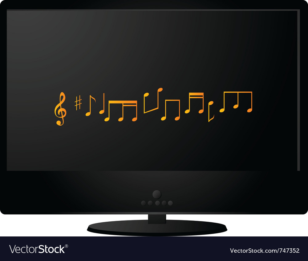 Black lcd monitor vector | Price: 1 Credit (USD $1)