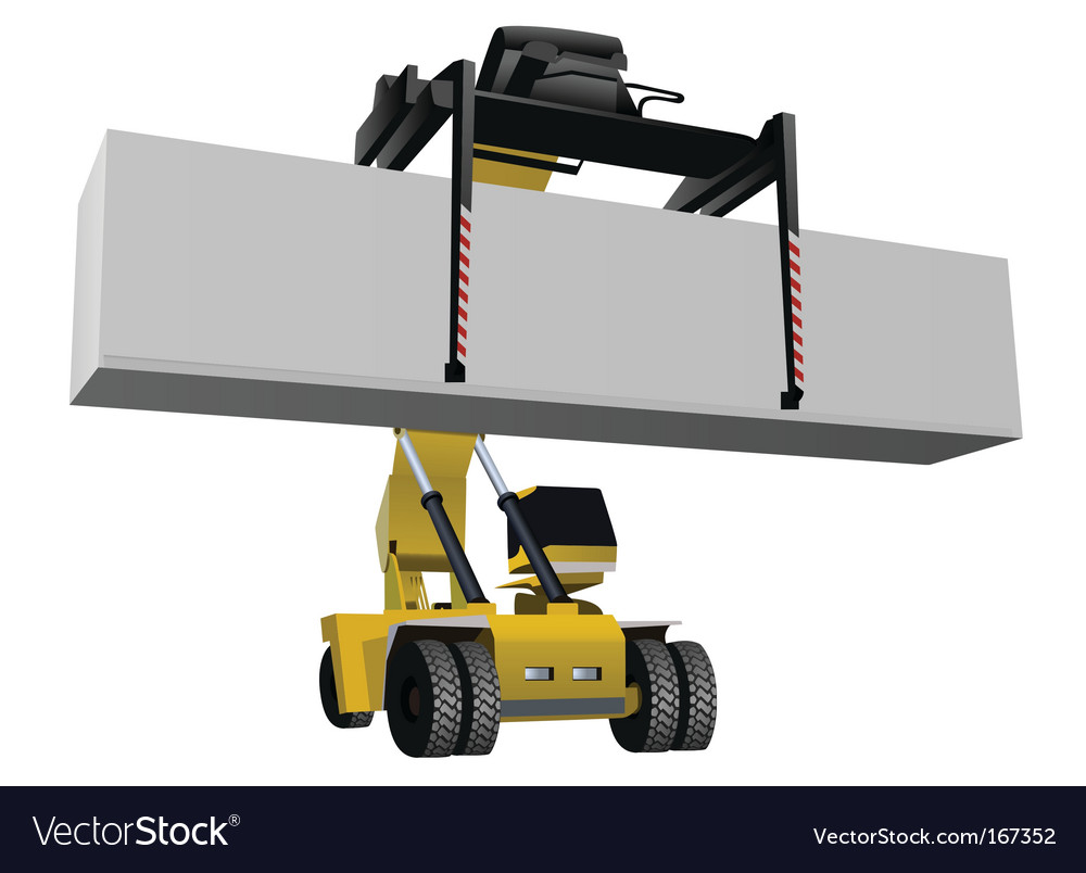 Container lift vector | Price: 1 Credit (USD $1)