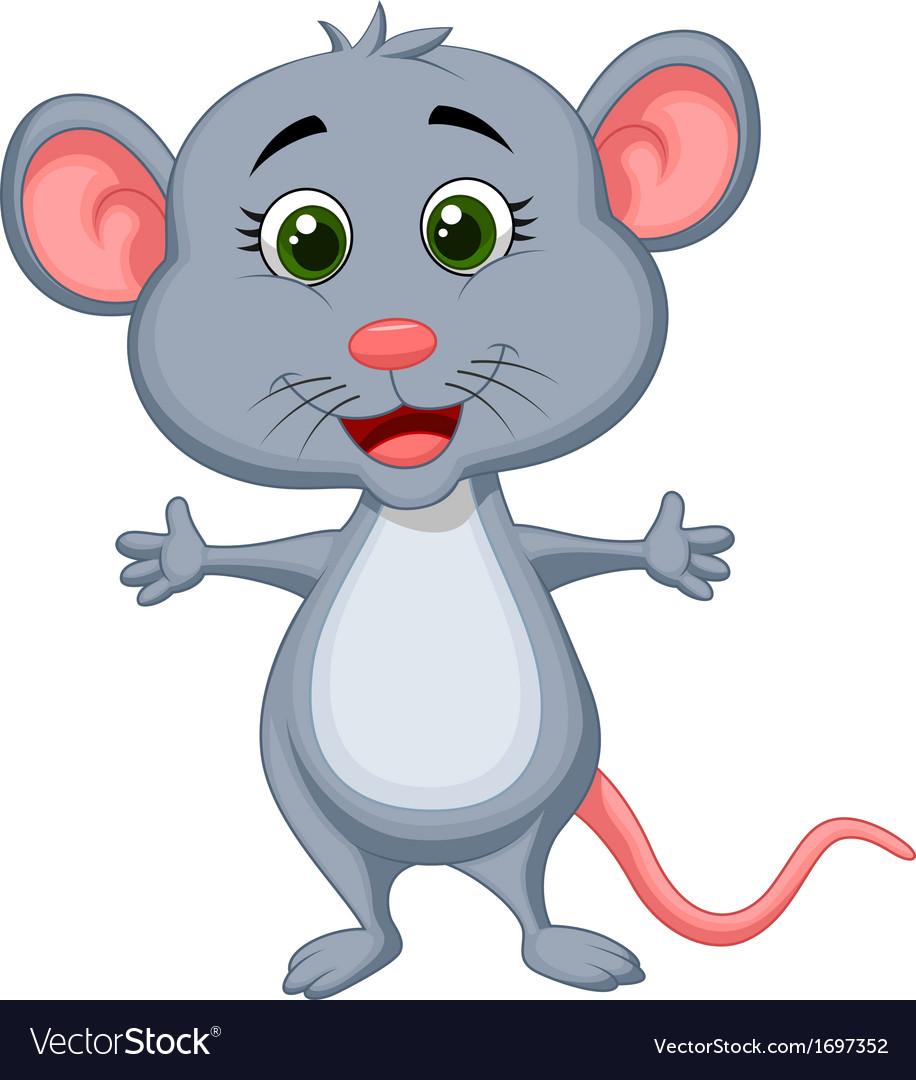 Cute mouse cartoon vector   Price: 1 Credit (USD $1)