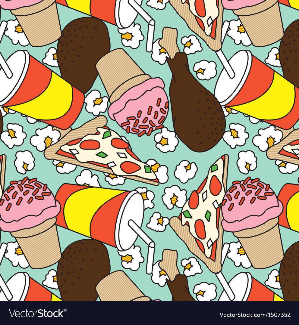 Fast food pattern vector | Price: 3 Credit (USD $3)
