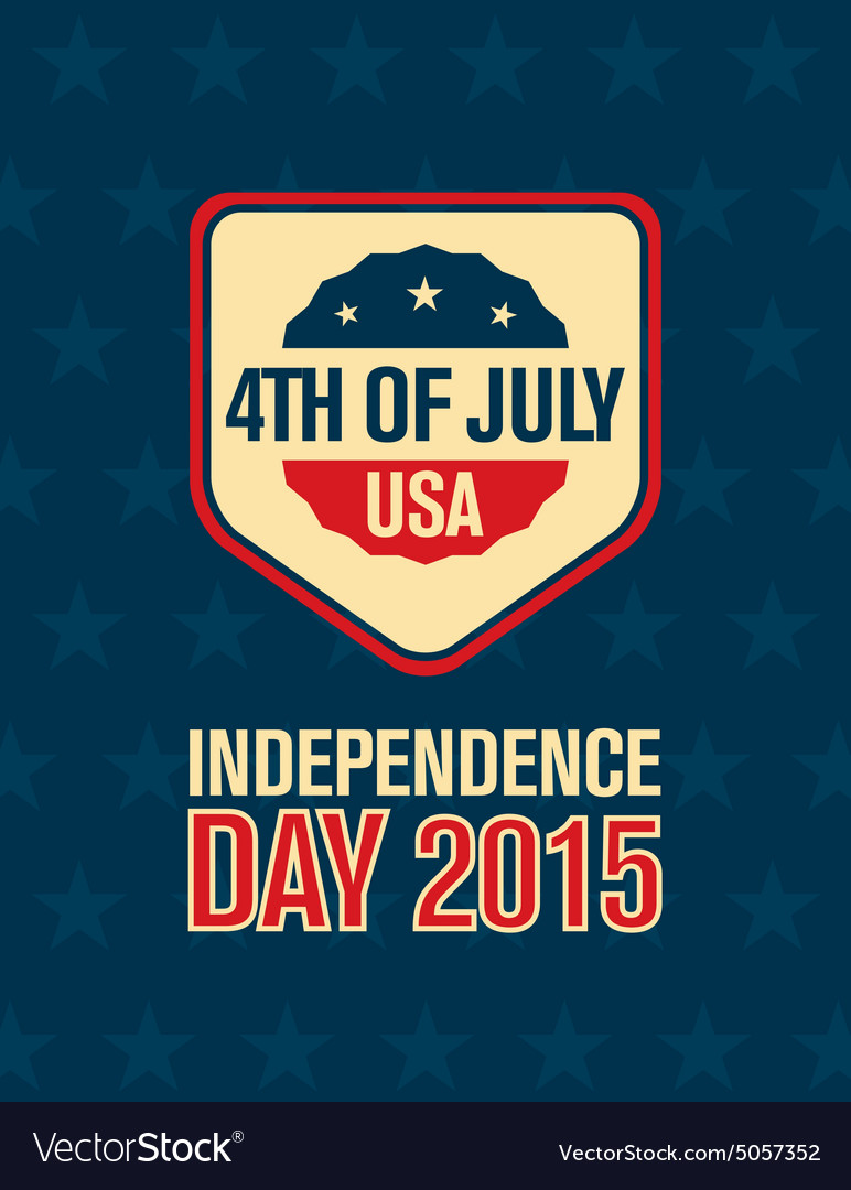 Fourth of july american independence day vector