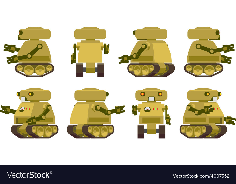 Military robot vector | Price: 1 Credit (USD $1)