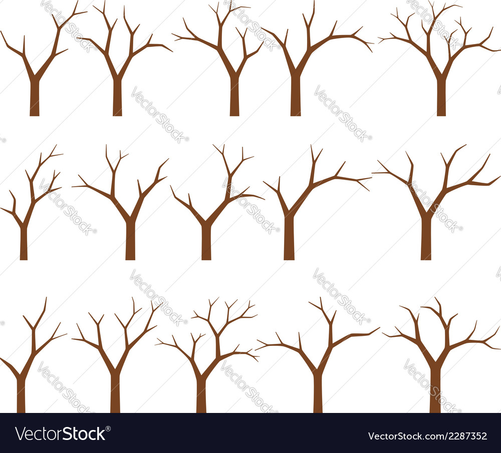 Naked trees vector | Price: 1 Credit (USD $1)