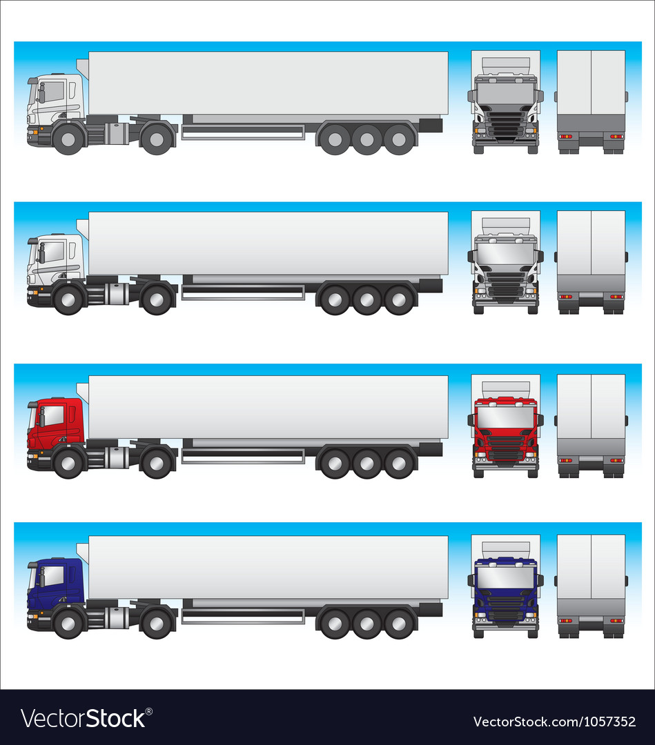 Semi-trailer truck vector | Price: 1 Credit (USD $1)