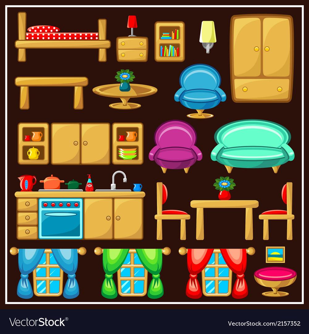 Set of furniture vector | Price: 1 Credit (USD $1)