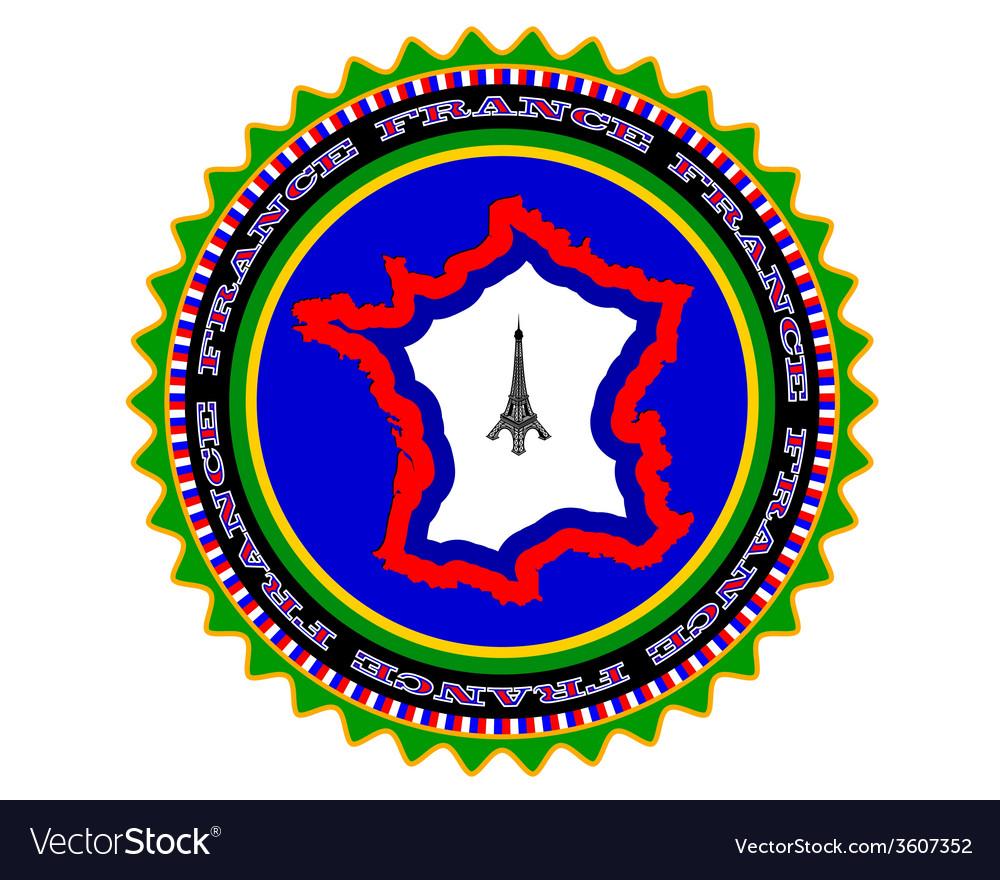Symbol of france vector | Price: 1 Credit (USD $1)