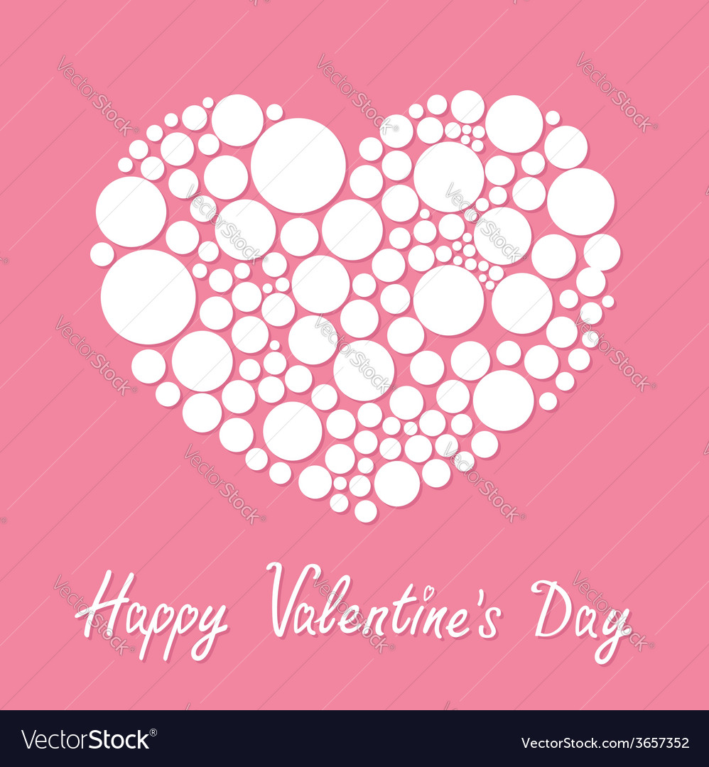 White heart made from many round dots love card vector   Price: 1 Credit (USD $1)