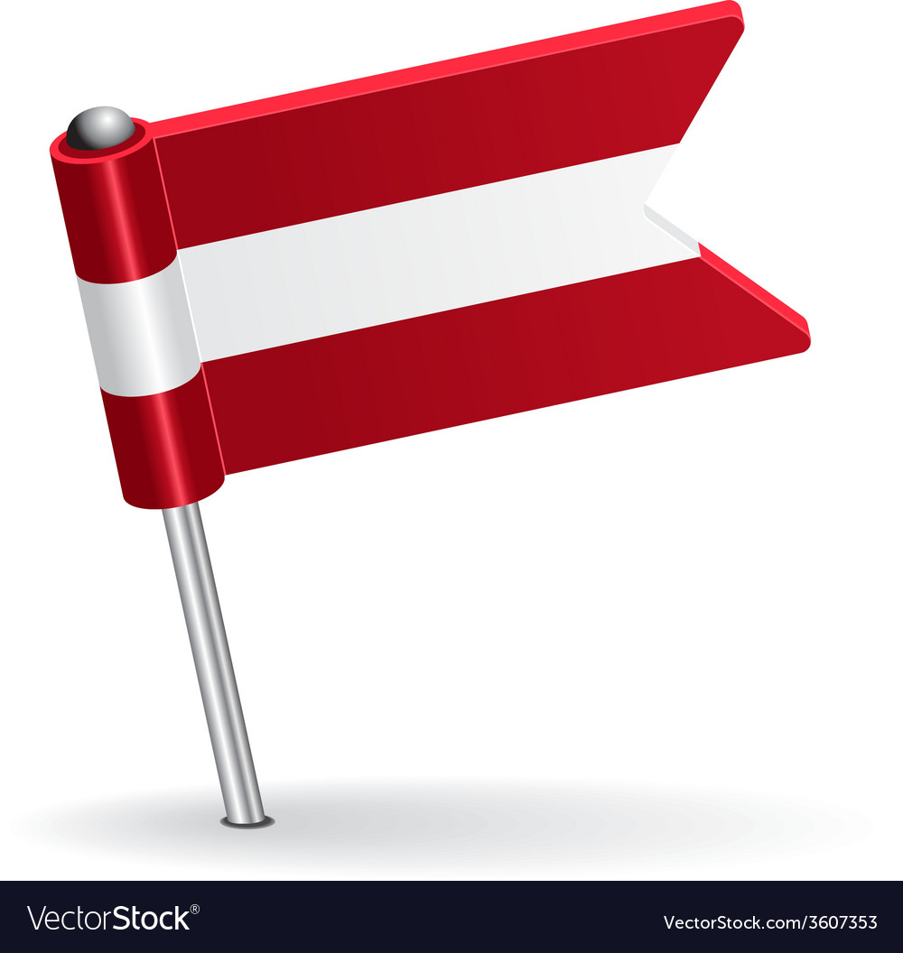 Austrian pin icon flag vector | Price: 1 Credit (USD $1)