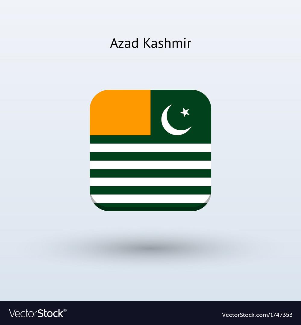 Azad kashmir flag icon vector | Price: 1 Credit (USD $1)