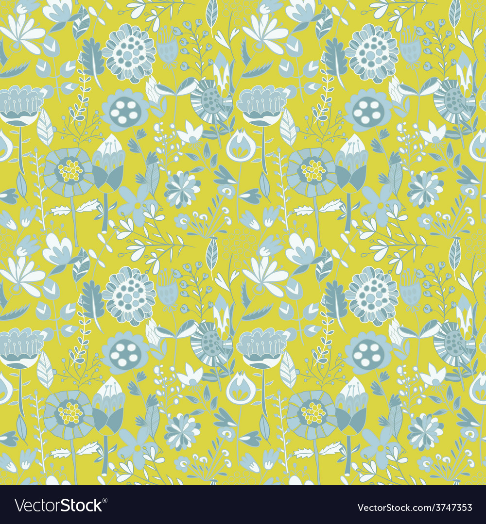 Flower pattern seamless texture vector | Price: 1 Credit (USD $1)