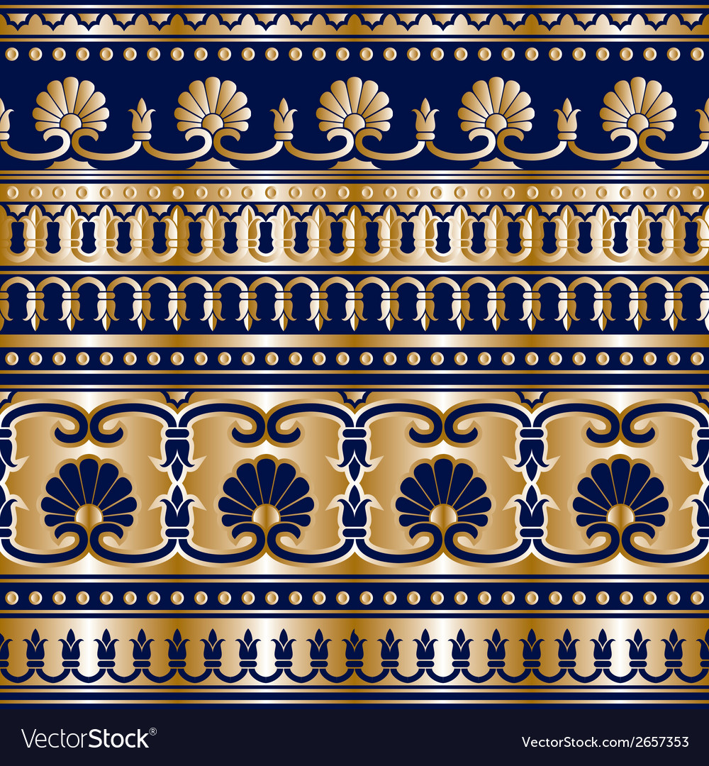 Gold grek seamless vector | Price: 1 Credit (USD $1)