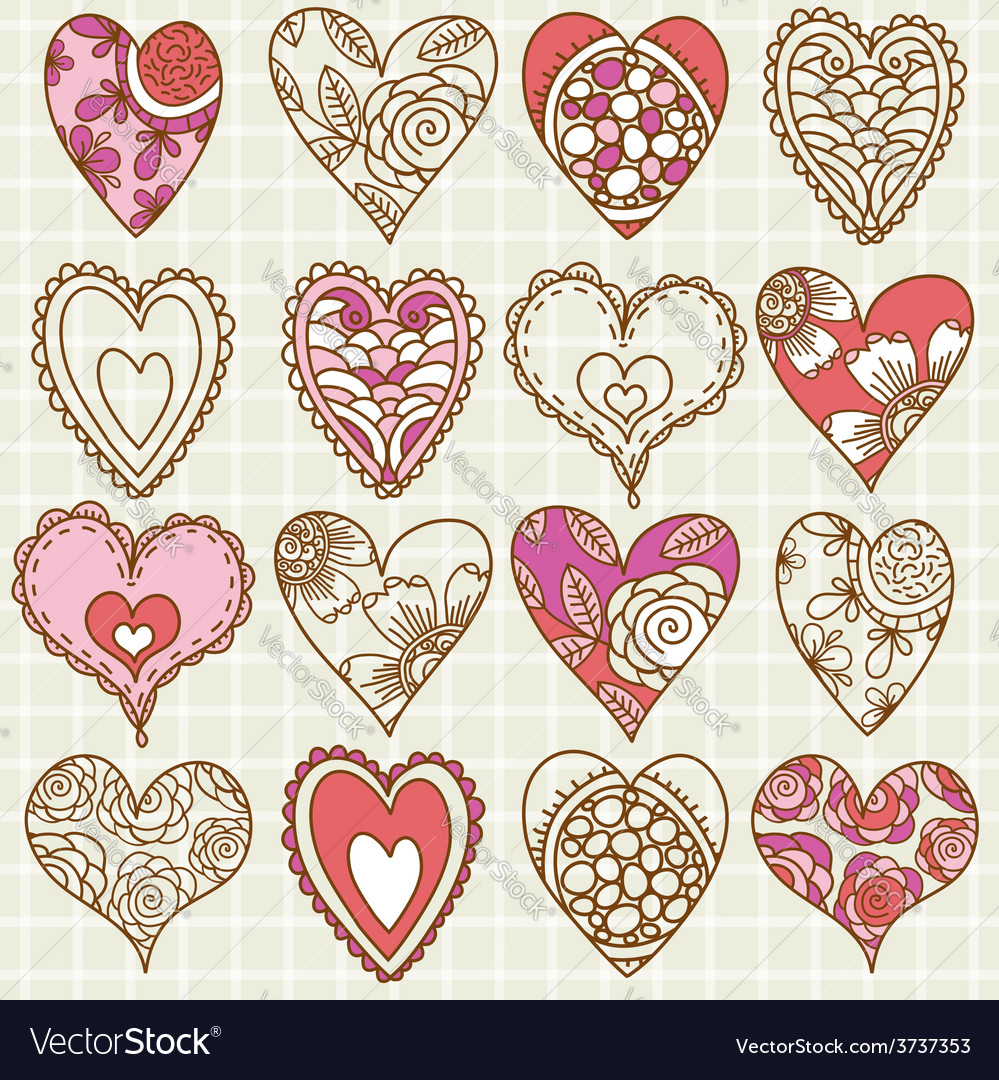 Hand drawing valentine heart vector | Price: 1 Credit (USD $1)