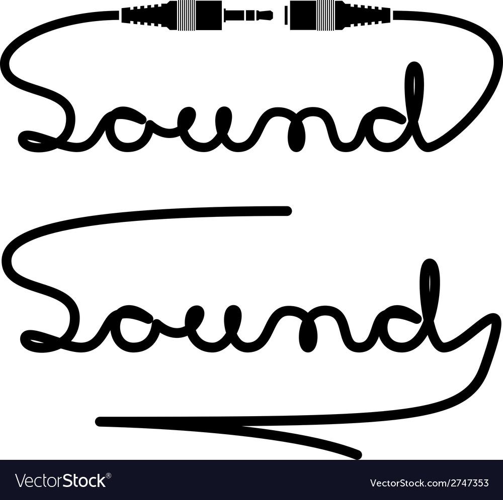 Jack connectors sound calligraphy vector | Price: 1 Credit (USD $1)