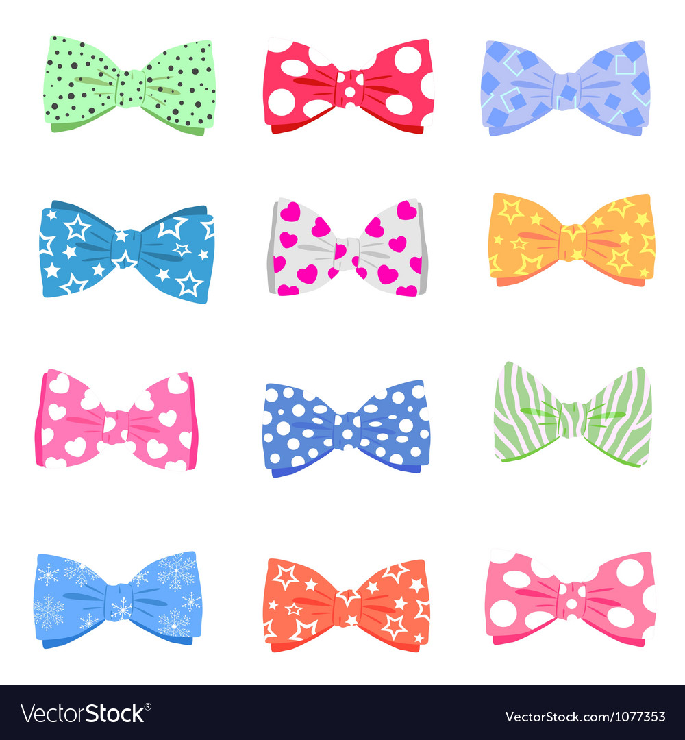 Set bowtie vector | Price: 1 Credit (USD $1)