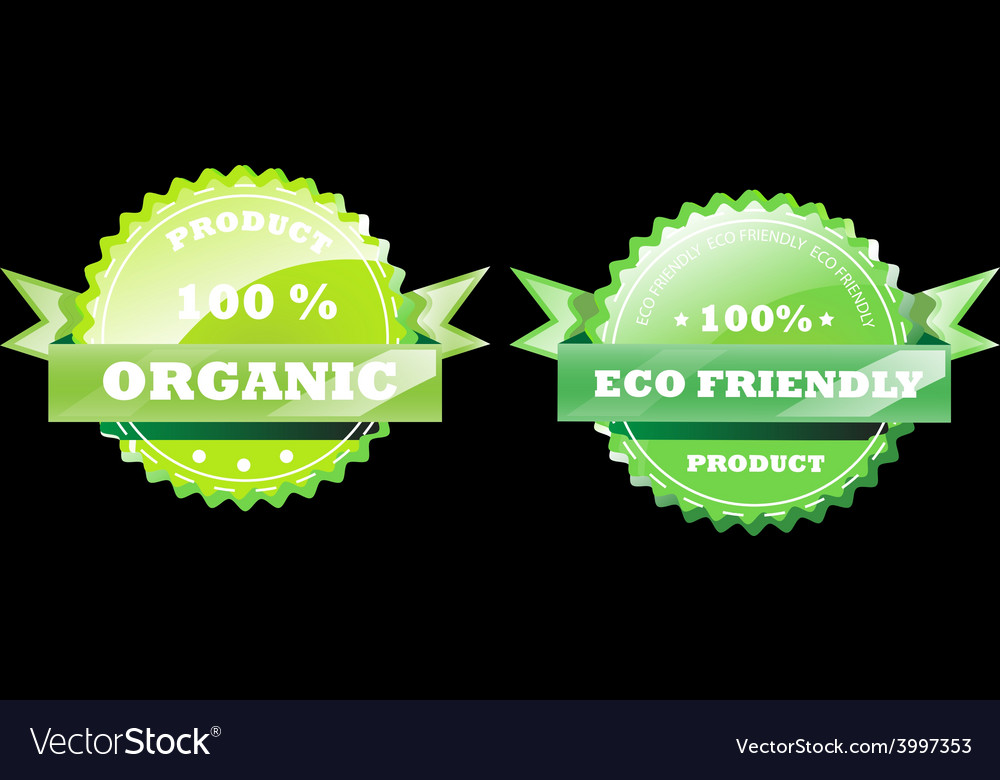 Set of eco badges vector | Price: 1 Credit (USD $1)