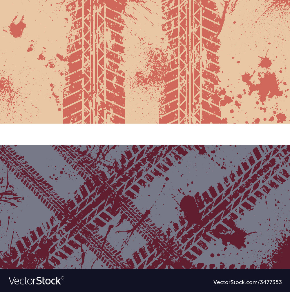 Tire track banners vector | Price: 1 Credit (USD $1)