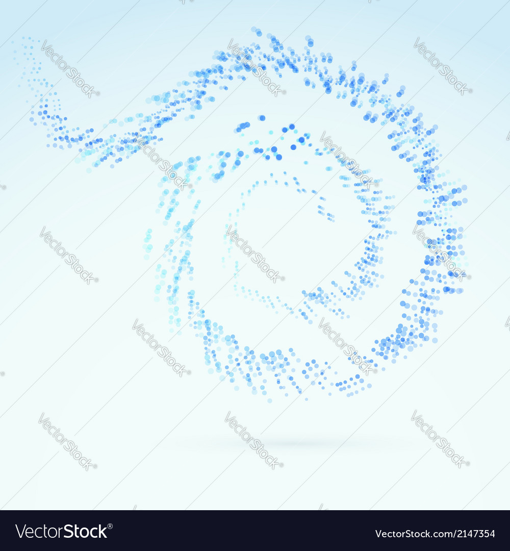 Blue fresh particle spiral swoosh line vector | Price: 1 Credit (USD $1)