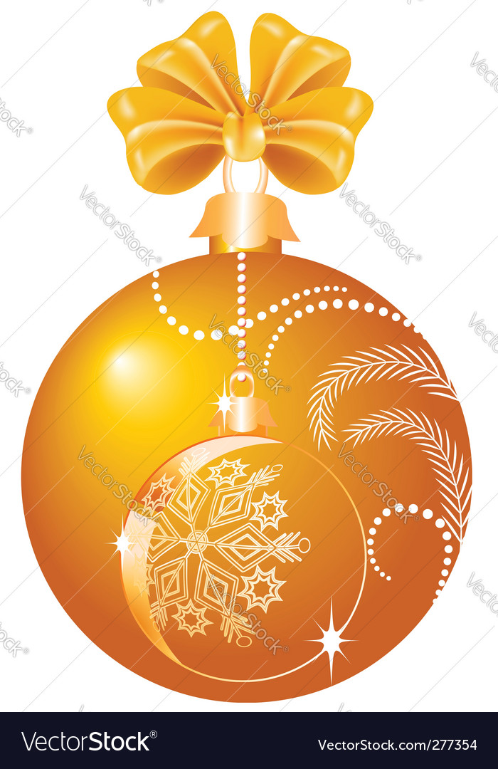 Christmas yellow ball vector | Price: 1 Credit (USD $1)