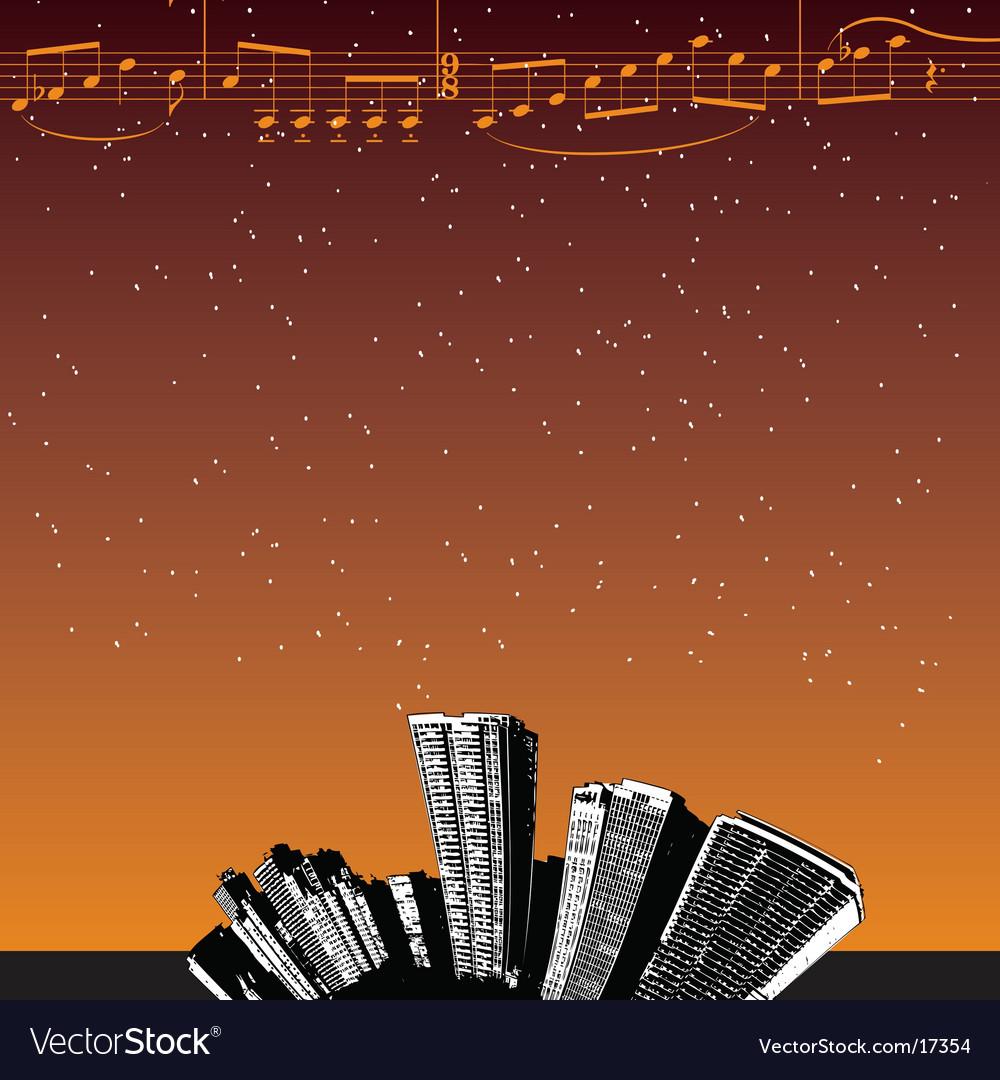 City-music stars vector | Price: 1 Credit (USD $1)