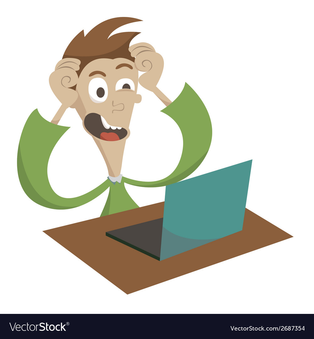 Computer problems vector | Price: 1 Credit (USD $1)