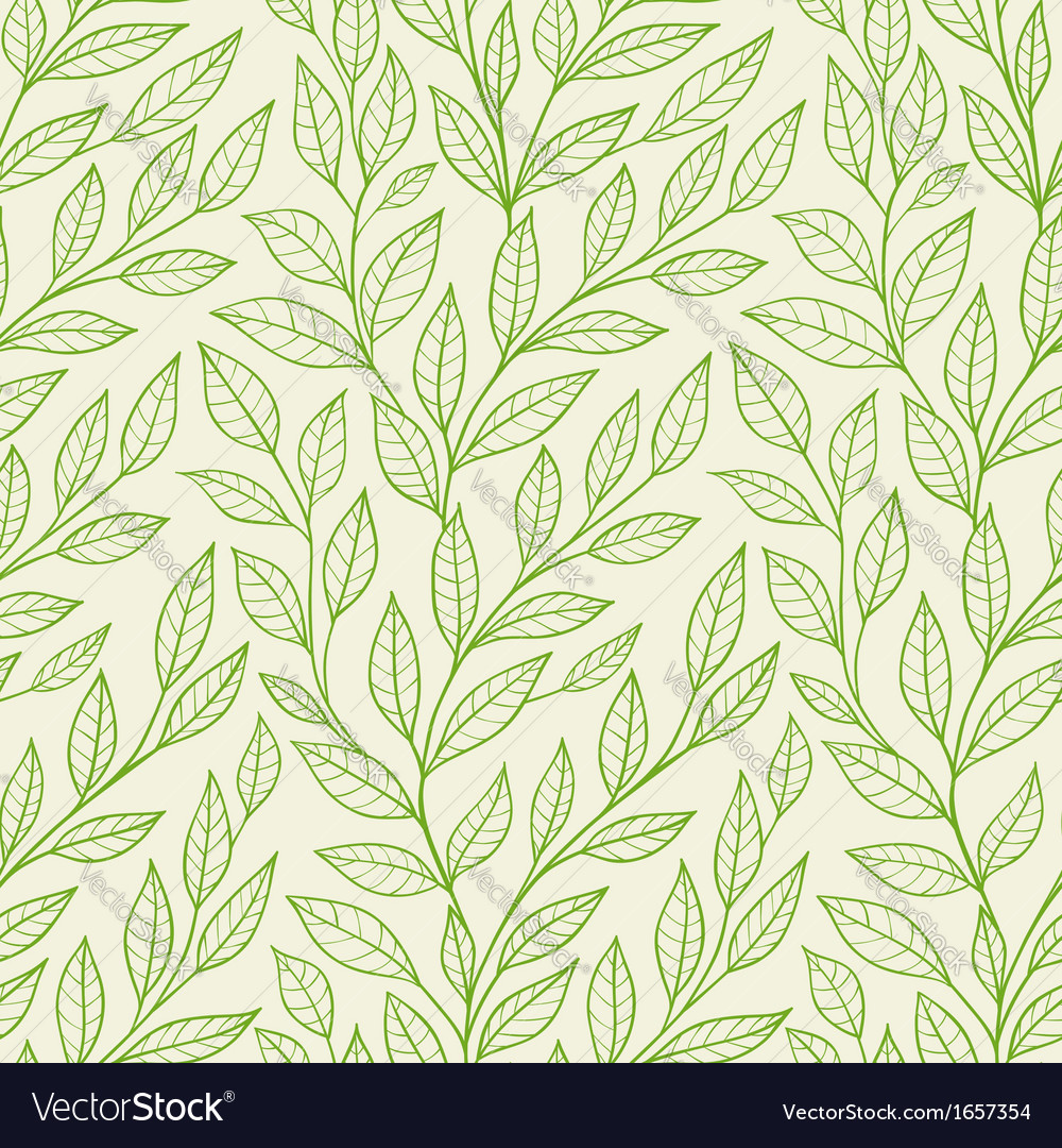Green leaves pattern vector | Price: 1 Credit (USD $1)