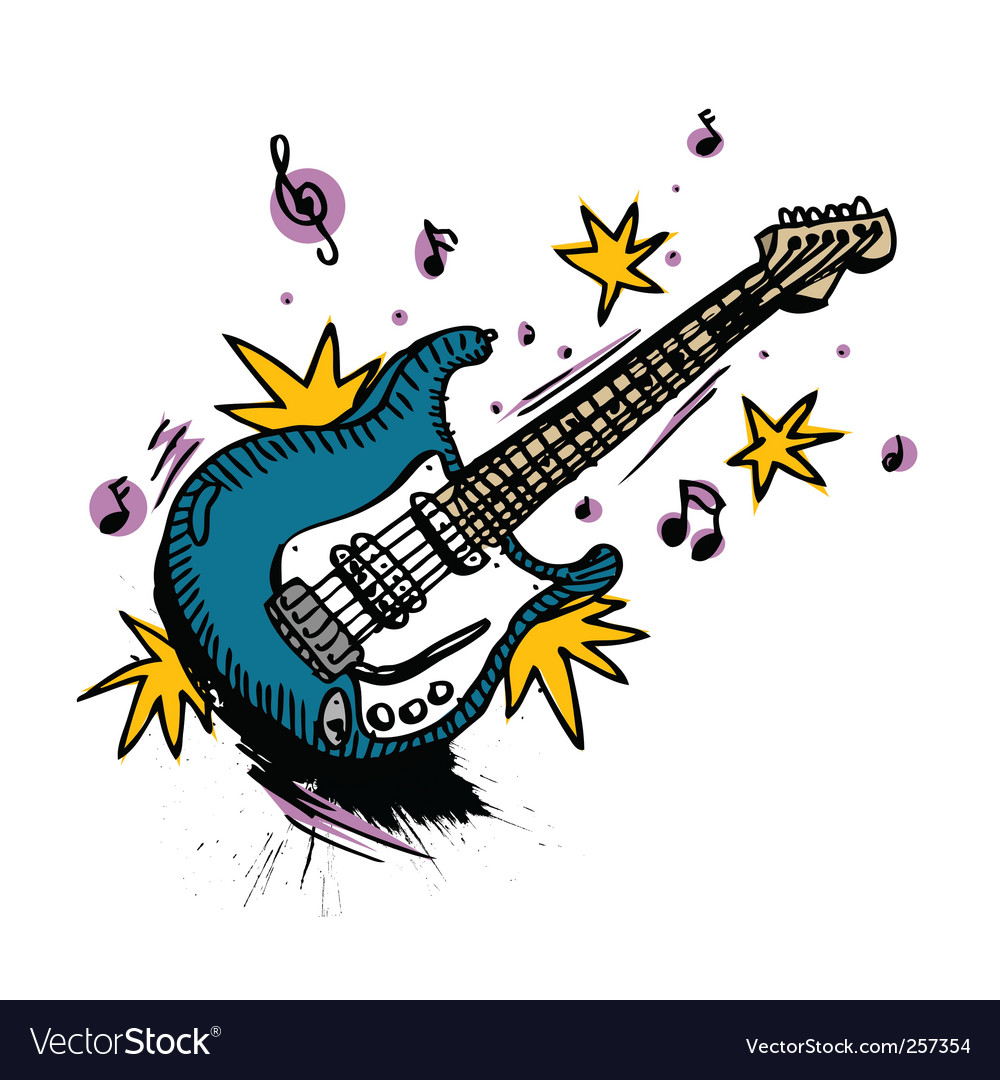 Guitar drawing vector | Price: 1 Credit (USD $1)