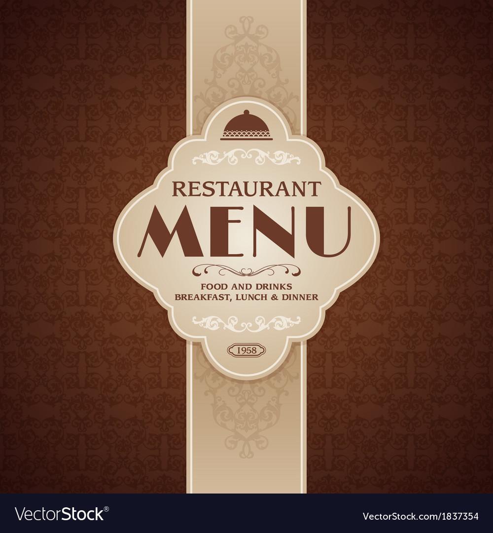 Restaurant cafe menu brochure template vector | Price: 1 Credit (USD $1)