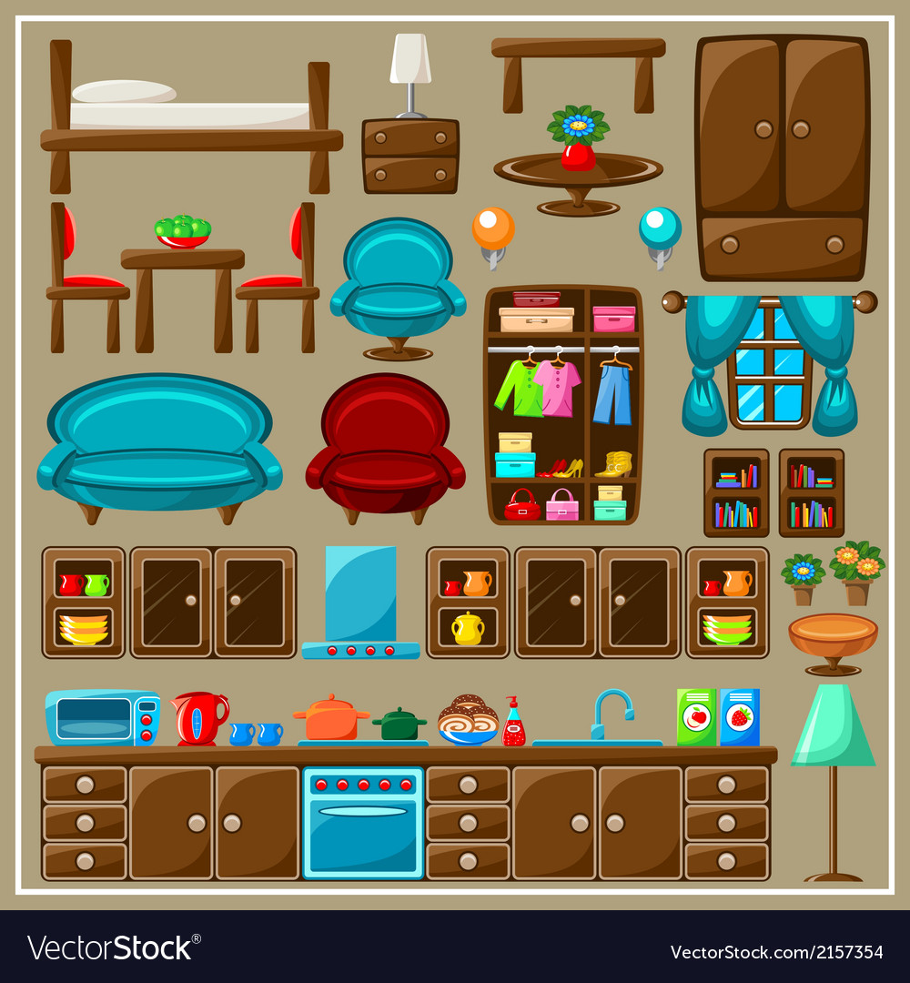 Set of furniture vector | Price: 3 Credit (USD $3)
