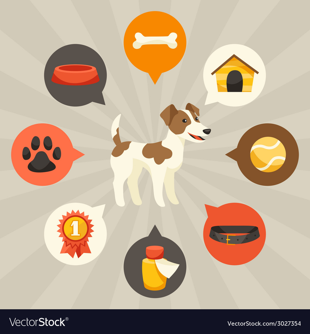 Visual infographics with cute dogs icons and vector | Price: 1 Credit (USD $1)