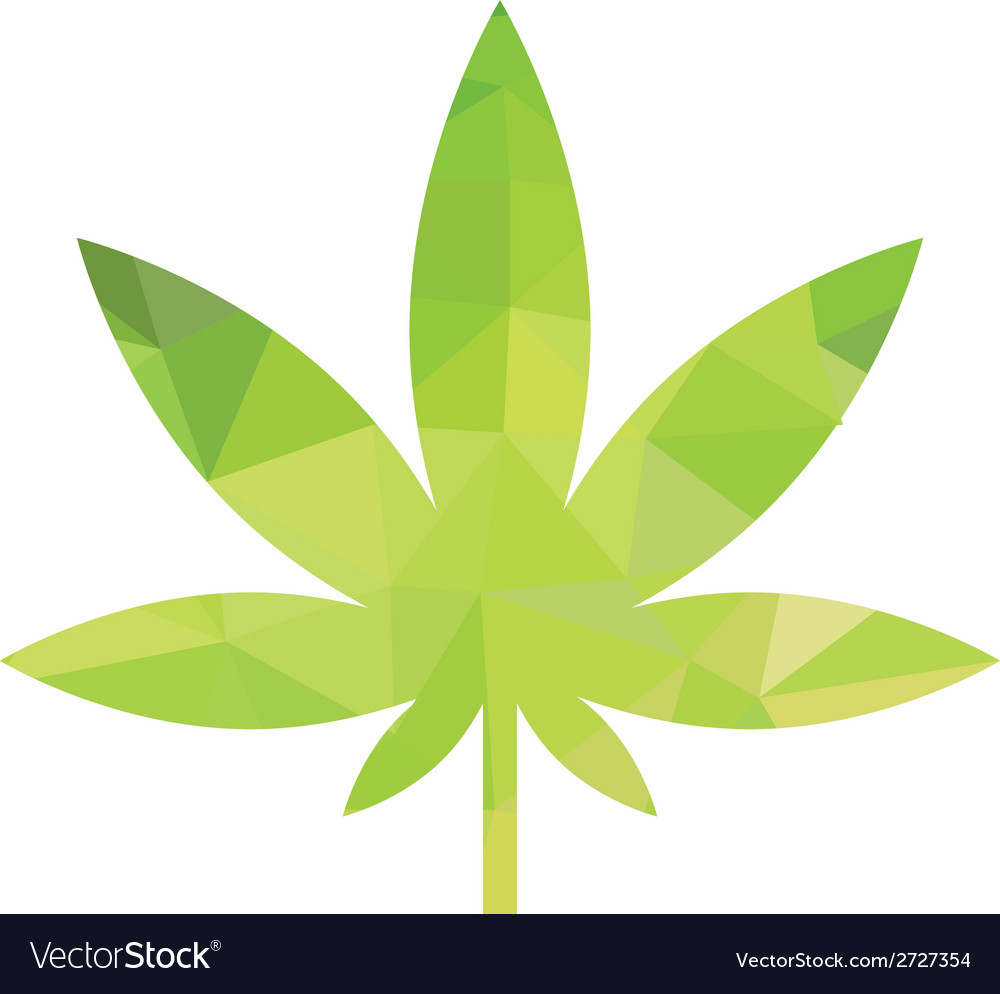 Weed icon vector