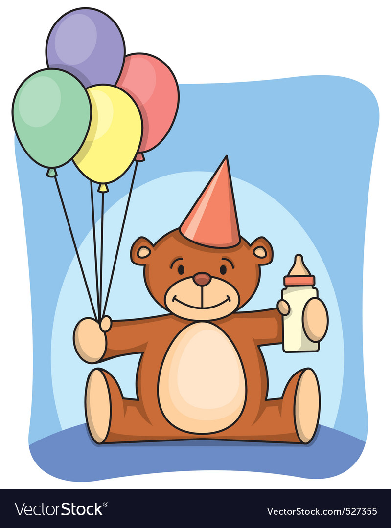 1st bearthday vector | Price: 1 Credit (USD $1)