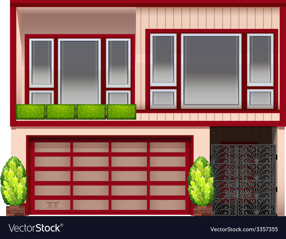 A building with red frames vector | Price: 1 Credit (USD $1)