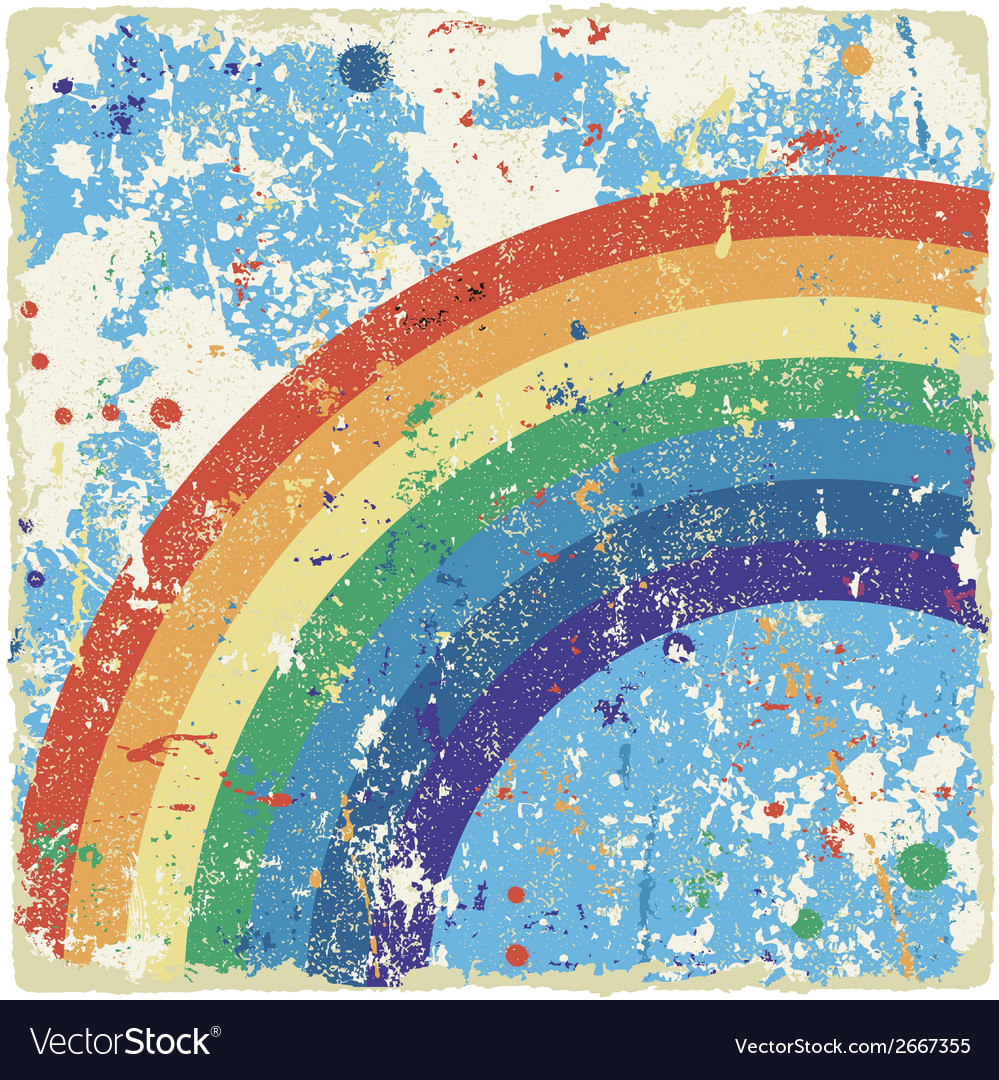 Abstract grunge background with rainbow vector | Price: 1 Credit (USD $1)