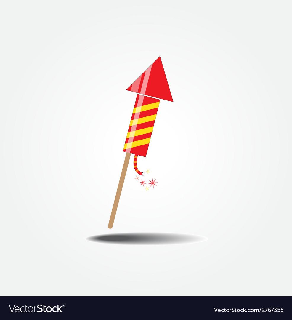Color fireworks rocket vector | Price: 1 Credit (USD $1)