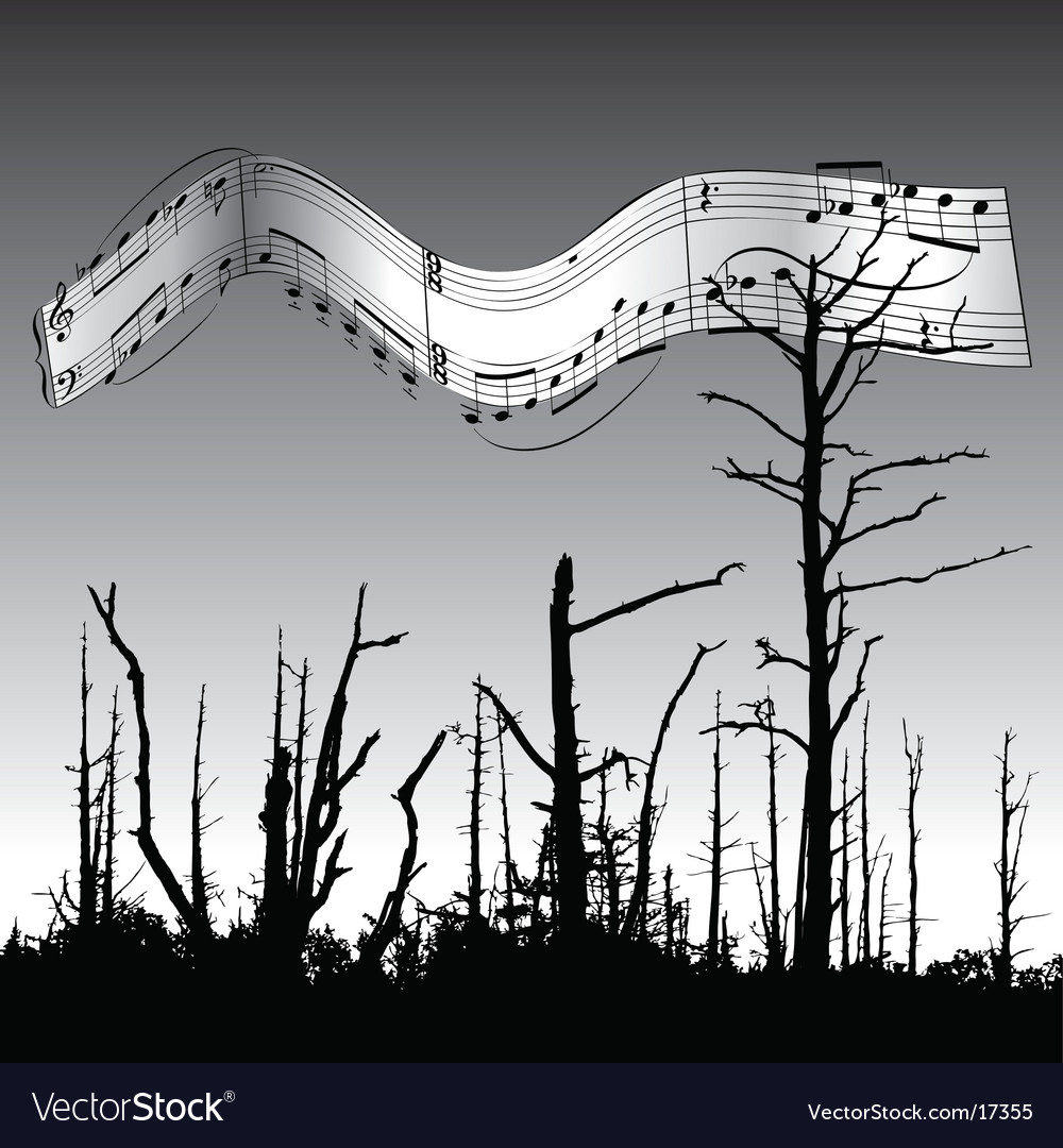 Dead tree music vector | Price: 1 Credit (USD $1)