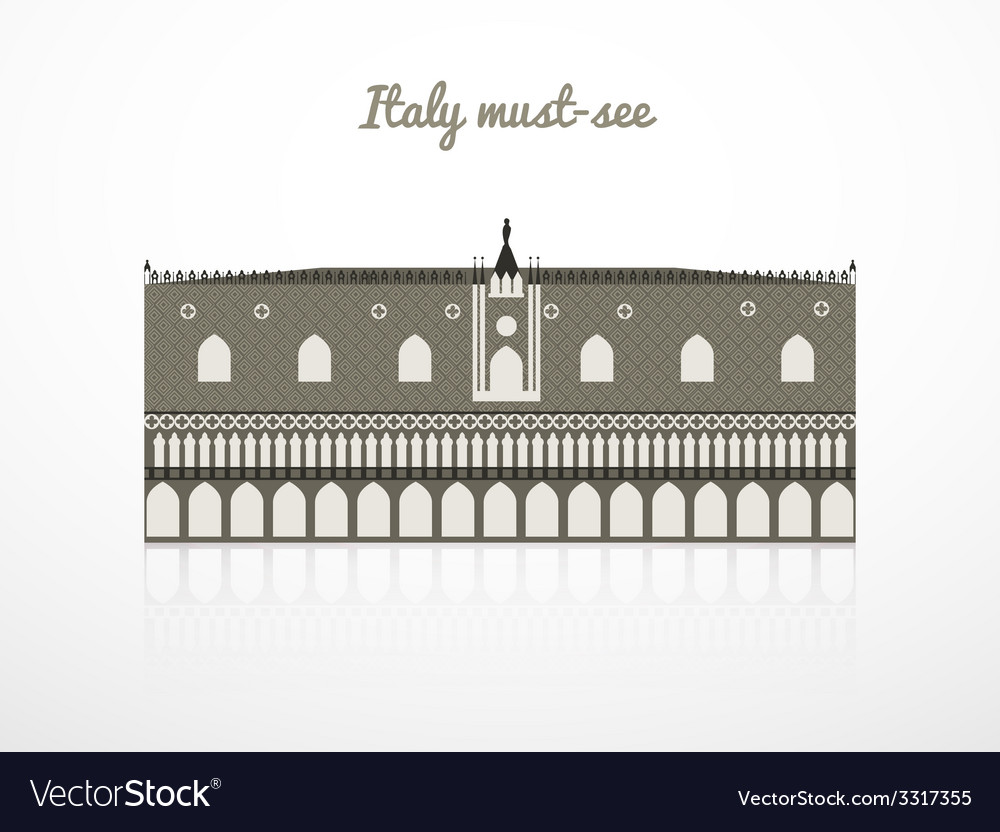 Doges palace vector | Price: 1 Credit (USD $1)