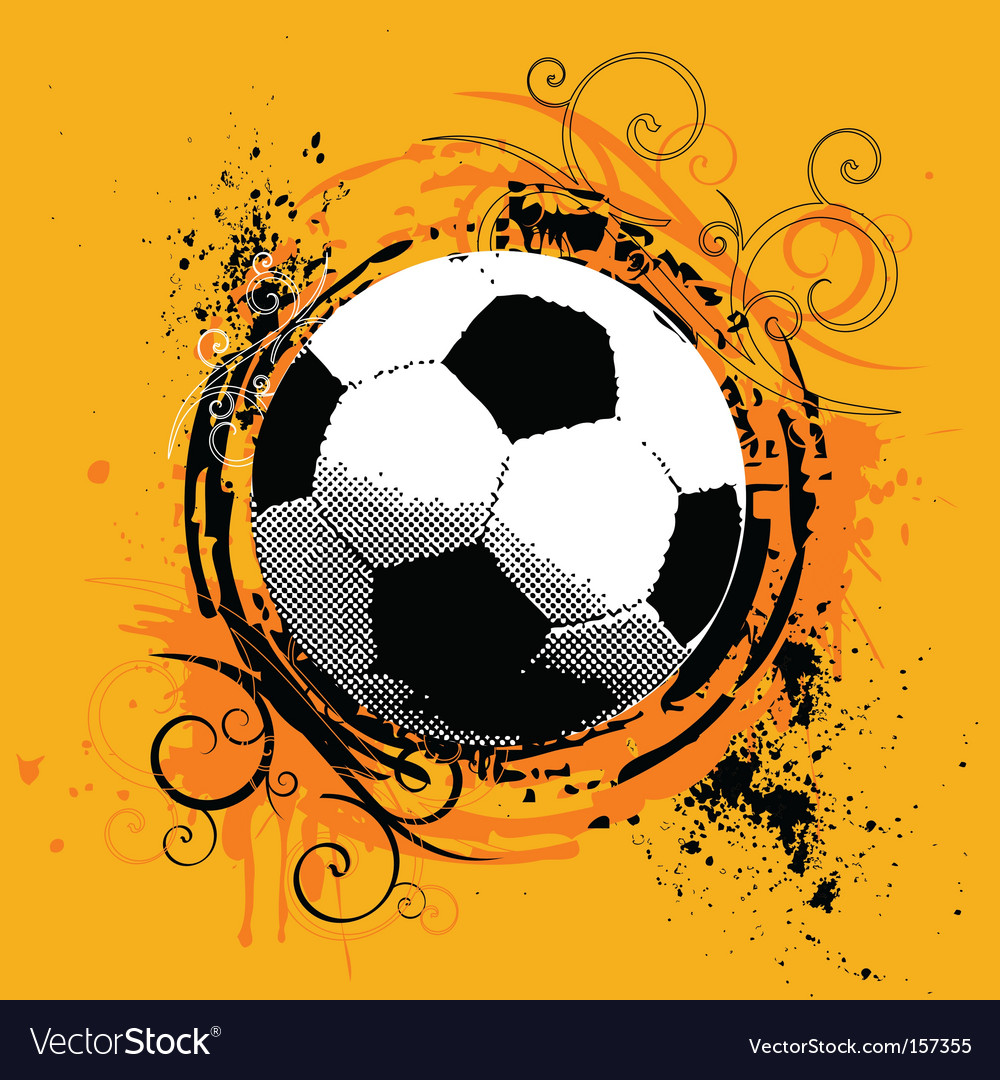 Grunge soccer vector | Price: 1 Credit (USD $1)