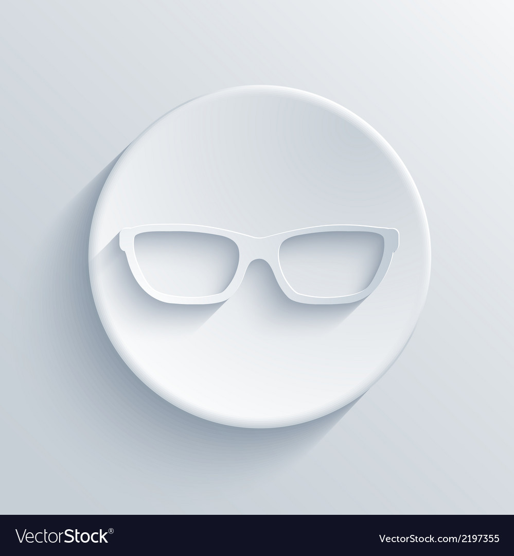 Modern glasses light icon vector | Price: 1 Credit (USD $1)