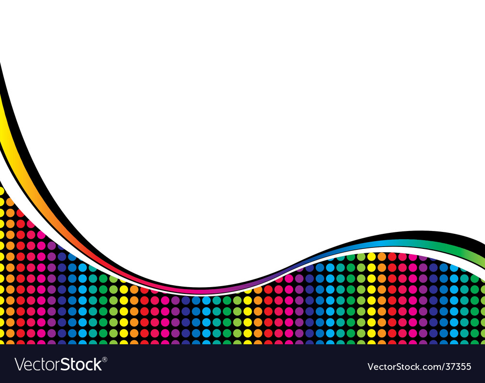 Rainbow curve vector | Price: 1 Credit (USD $1)