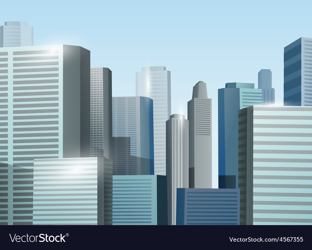 Sunrise cityscape stock vector
