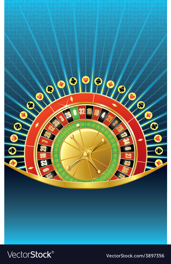 Abstract gambling background with roulette vector | Price: 1 Credit (USD $1)