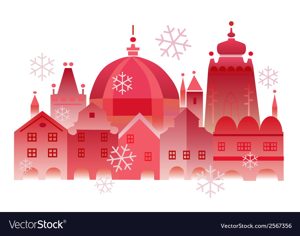 Christmas winter historical town vector | Price: 1 Credit (USD $1)