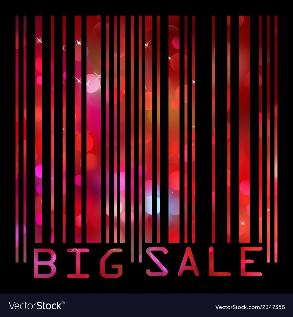Colorful big sale bar code eps 8 vector | Price: 1 Credit (USD $1)