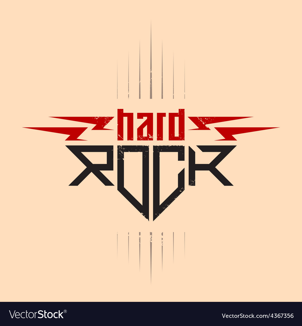 Hard rock badge - original lettering with vector | Price: 1 Credit (USD $1)