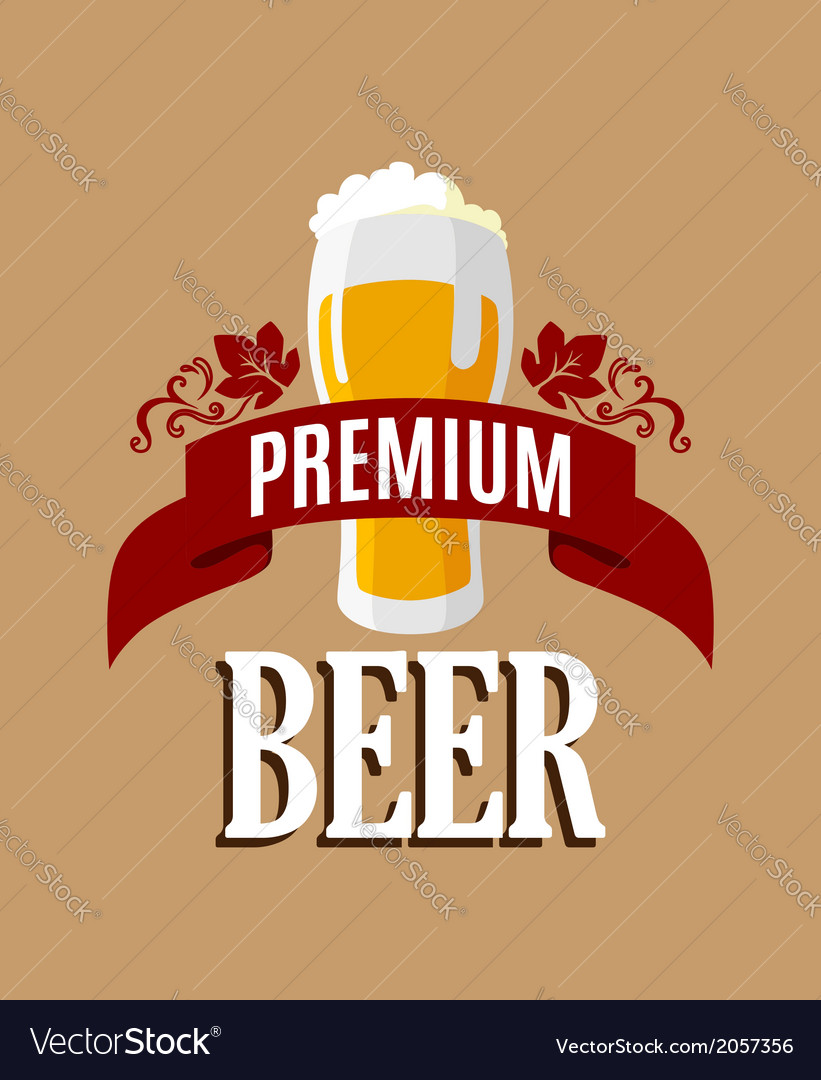 Lager beer banner vector | Price: 1 Credit (USD $1)