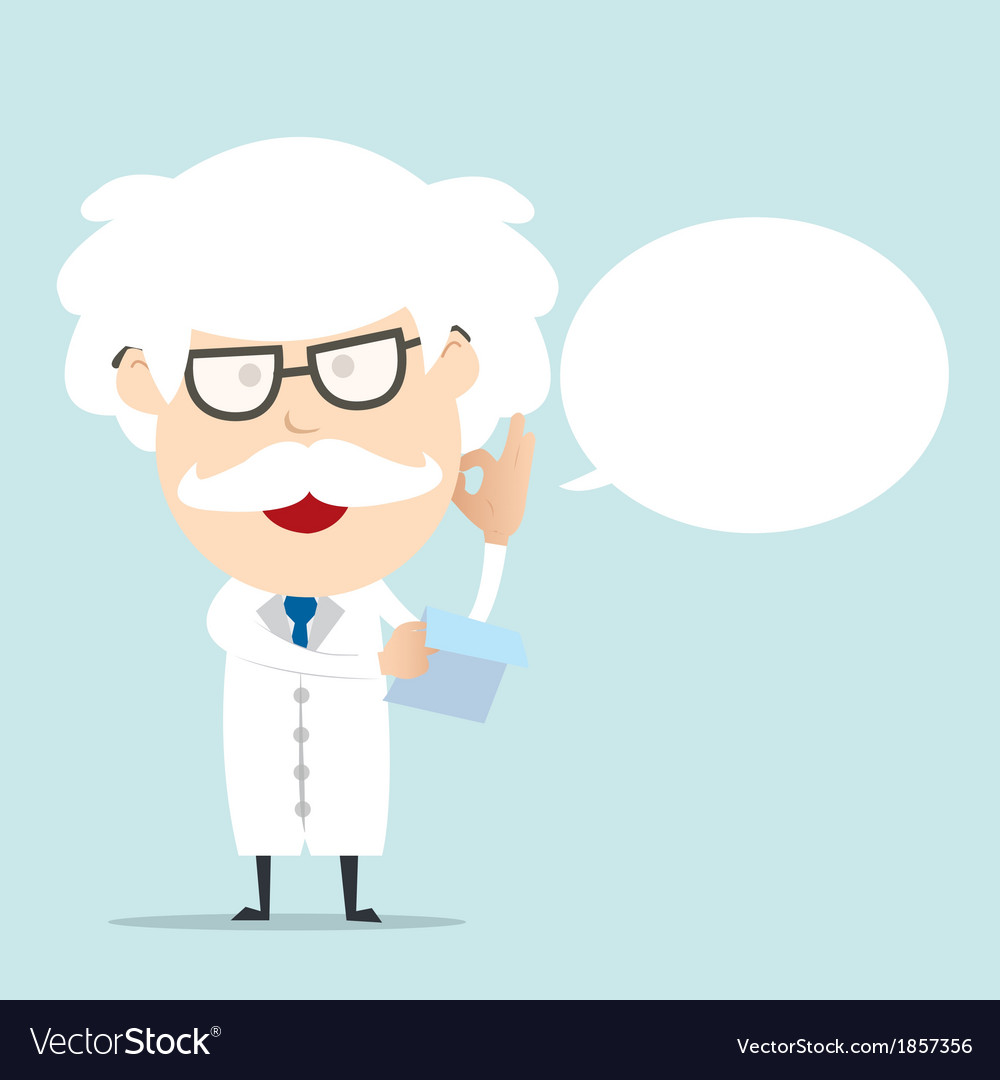Professor reading a report vector | Price: 1 Credit (USD $1)