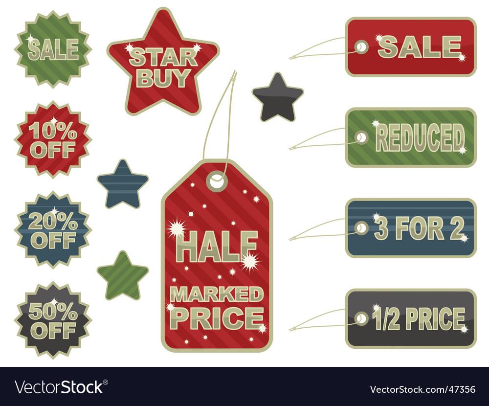 Saletags vector | Price: 1 Credit (USD $1)